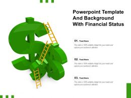 Powerpoint Template And Background With Financial Status