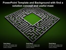 Powerpoint Template And Background With Find A Solution Concept And Useful Maze