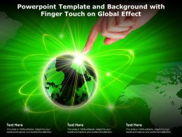 Powerpoint Template And Background With Finger Touch On Global Effect