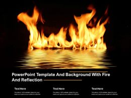Powerpoint Template And Background With Fire And Reflection