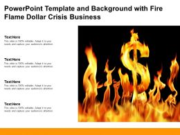 Powerpoint Template And Background With Fire Flame Dollar Crisis Business