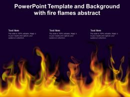 Powerpoint Template And Background With Fire Flames Abstract