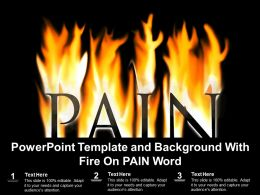 Powerpoint Template And Background With Fire On Pain Word