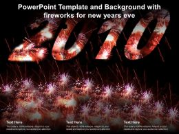 Powerpoint Template And Background With Fireworks For New Years Eve