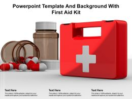 Powerpoint Template And Background With First Aid Kit