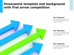 Powerpoint Template And Background With First Arrow Competition