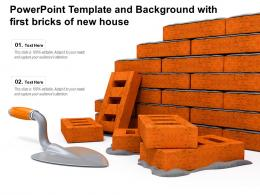 Powerpoint Template And Background With First Bricks Of New House
