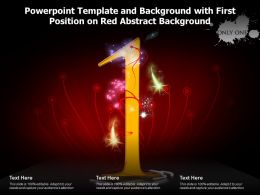 Powerpoint Template And Background With First Position On Red Abstract Background