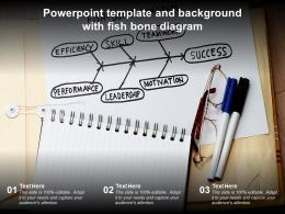 Powerpoint Template And Background With Fish Bone Diagram