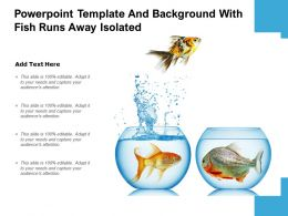Powerpoint Template And Background With Fish Runs Away Isolated