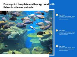Powerpoint Template And Background With Fishes Inside Sea Animals