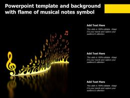 Powerpoint Template And Background With Flame Of Musical Notes Symbol