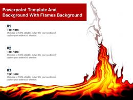 Powerpoint Template And Background With Flames Background