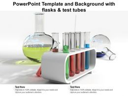 Powerpoint Template And Background With Flasks And Test Tubes
