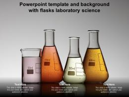 Powerpoint Template And Background With Flasks Laboratory Science