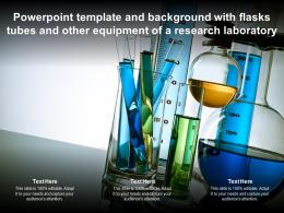 Powerpoint Template And Background With Flasks Tubes And Other Equipment Of A Research Laboratory