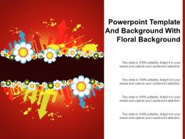 Powerpoint Template And Background With Floral Background
