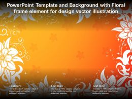 Powerpoint Template And Background With Floral Frame Element For Design Vector Illustration