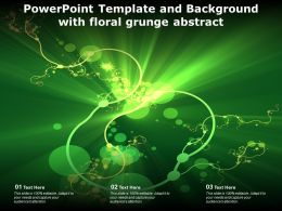 Powerpoint Template And Background With Floral Grunge Abstract