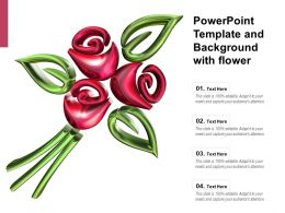 Powerpoint Template And Background With Flower