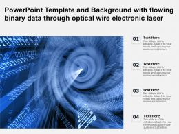 Powerpoint Template And Background With Flowing Binary Data Through Optical Wire Electronic Laser