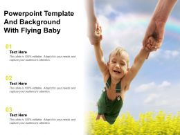 Powerpoint Template And Background With Flying Baby