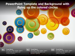 Powerpoint Template And Background With Flying Up The Colored Circles