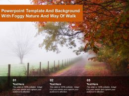 Powerpoint Template And Background With Foggy Nature And Way Of Walk
