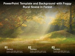 Powerpoint Template And Background With Foggy Rural Scene In Forest