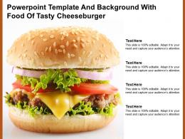 Powerpoint Template And Background With Food Of Tasty Cheeseburger