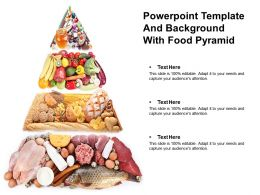 Powerpoint Template And Background With Food Pyramid