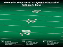 Powerpoint Template And Background With Football Field Sports Game