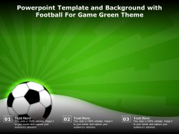Powerpoint Template And Background With Football For Game Green Theme