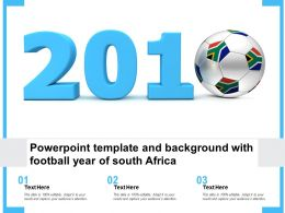 Powerpoint Template And Background With Football Year Of South Africa