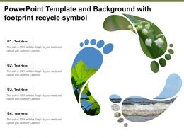 Powerpoint Template And Background With Footprint Recycle Symbol