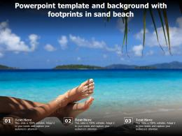Powerpoint Template And Background With Footprints In Sand Beach
