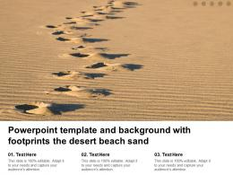 Powerpoint Template And Background With Footprints The Desert Beach Sand