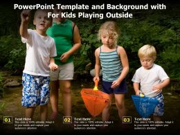 Powerpoint Template And Background With For Kids Playing Outside