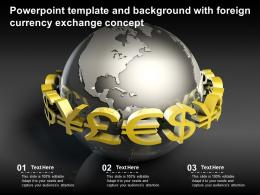 Powerpoint Template And Background With Foreign Currency Exchange Concept