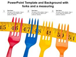 Powerpoint Template And Background With Forks And A Measuring