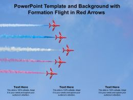 Powerpoint Template And Background With Formation Flight In Red Arrows
