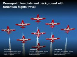 Powerpoint Template And Background With Formation Flights Travel