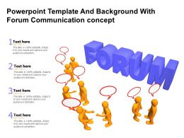 Powerpoint Template And Background With Forum Communication Concept