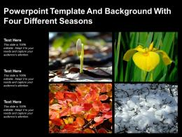 Powerpoint Template And Background With Four Different Seasons
