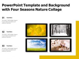 Powerpoint Template And Background With Four Seasons Nature Collage