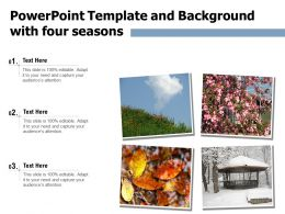 Powerpoint Template And Background With Four Seasons Ppt Powerpoint