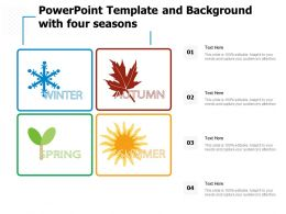 Powerpoint Template And Background With Four Seasons
