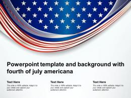 Powerpoint Template And Background With Fourth Of July Americana