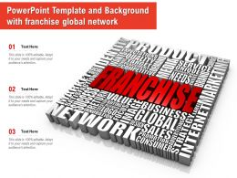 Powerpoint Template And Background With Franchise Global Network