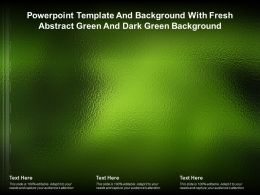 Powerpoint Template And Background With Fresh Abstract Green And Dark Green